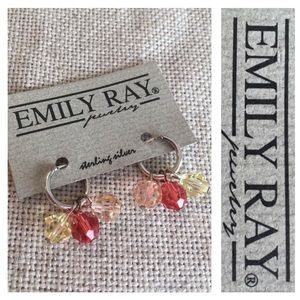 Emily Ray Sterling Silver Mini Hoop Hoopla Earring
